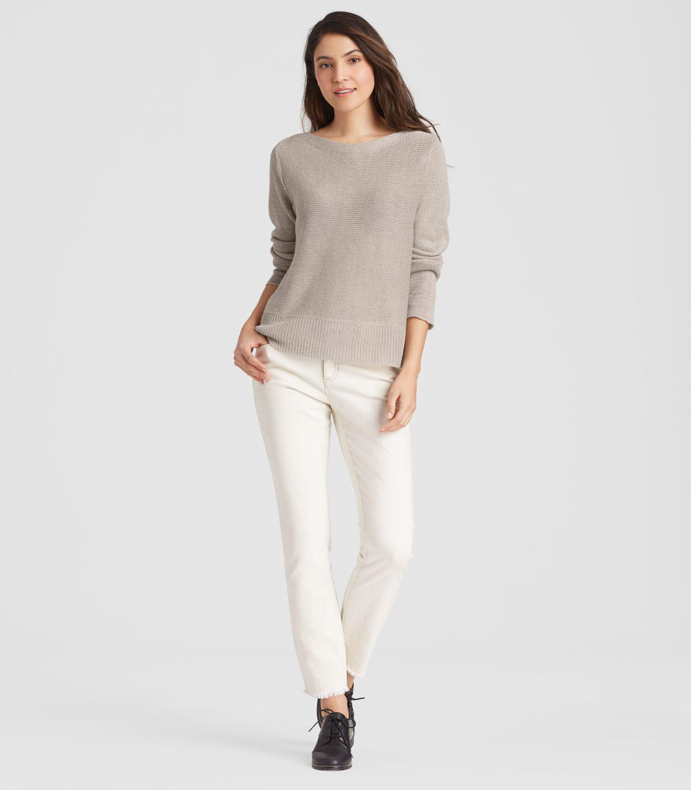 9b4612adfe9 Eileen Fisher Linen Delave Box-top in Natural - Lyst