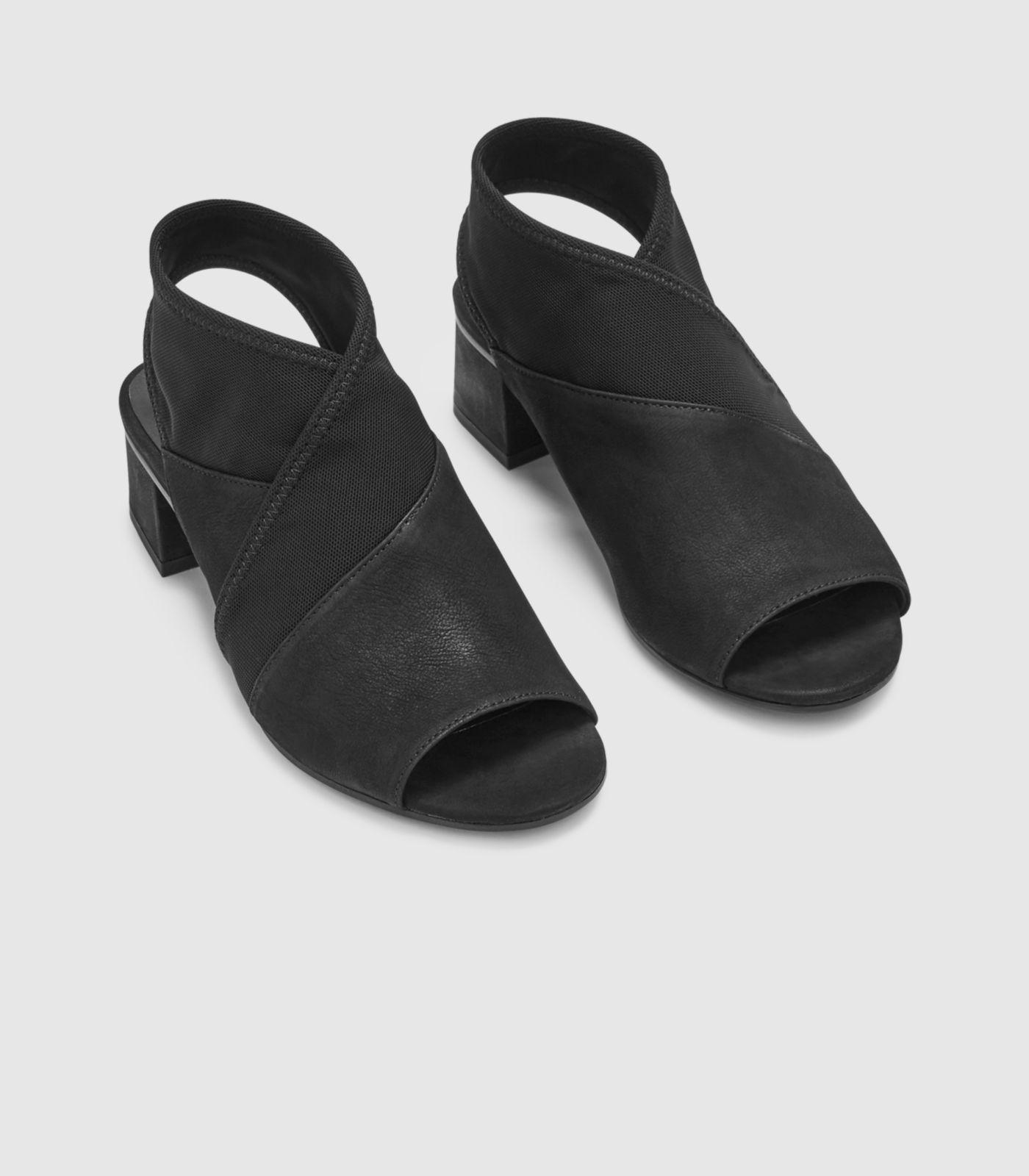 aa95e0dab08 Eileen Fisher - Black Luca Tumbled Nubuck Sandal - Lyst. View fullscreen
