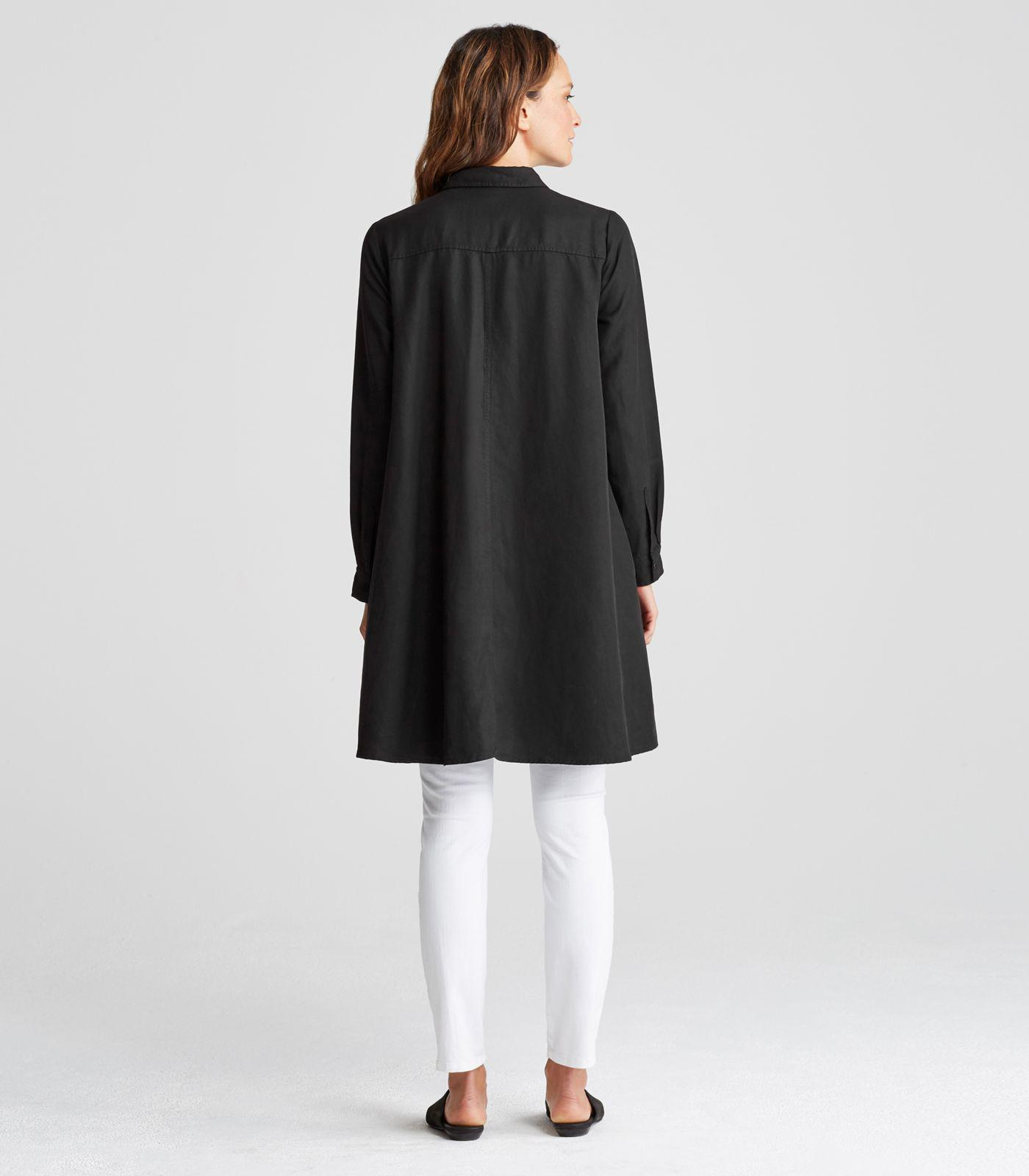 1beb4df2 Eileen Fisher Tencel Linen Classic Collar A-line Shirt Dress in ...