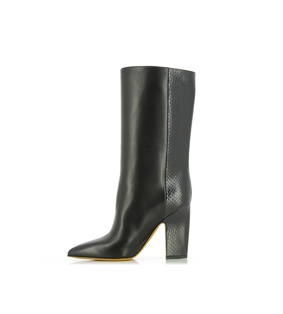 Valentino Embossed Python Boots In Black Lyst