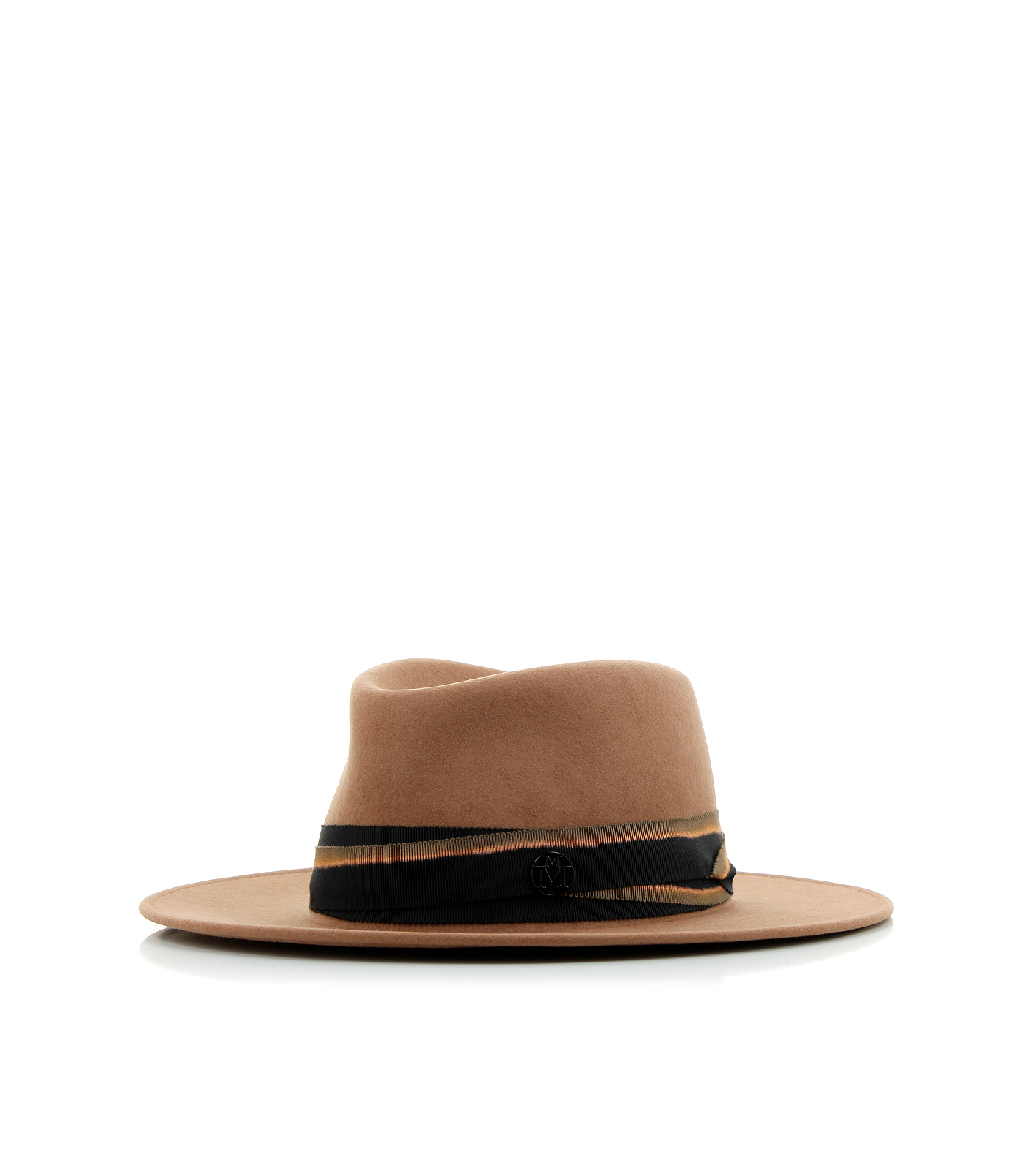 Maison michel thadee hat in brown lyst for Maison michel