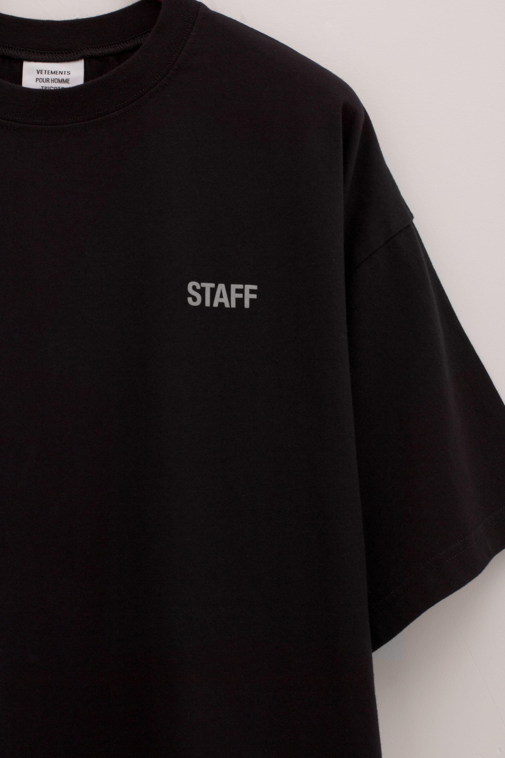 4bd5466c5778 Vetements Staff Reflector T-shirt in Black for Men - Lyst