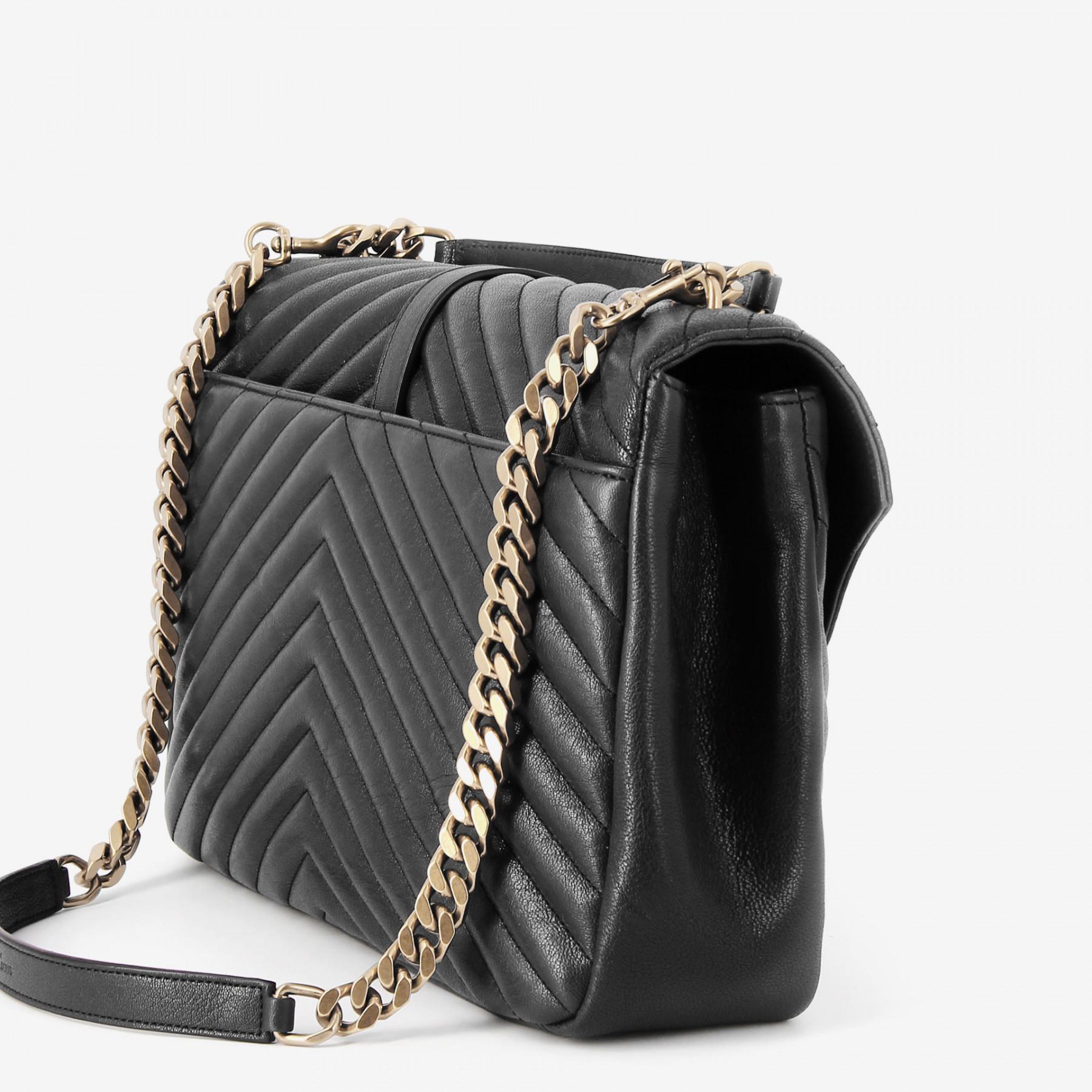 a6903cd5ca97 Lyst - Saint Laurent College Bag in Black