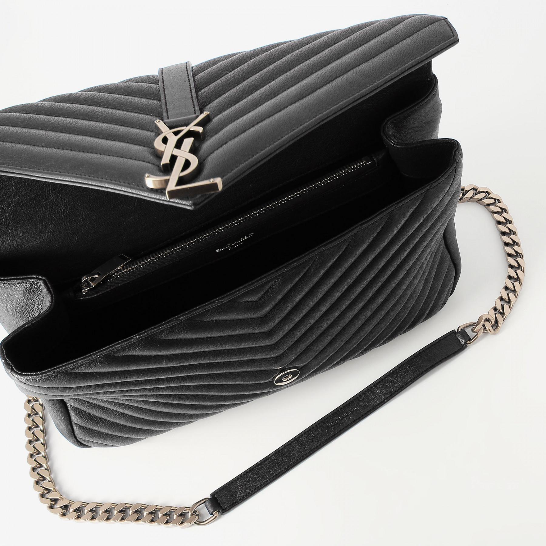 e622d240a4c2 Lyst - Saint Laurent College Bag in Black