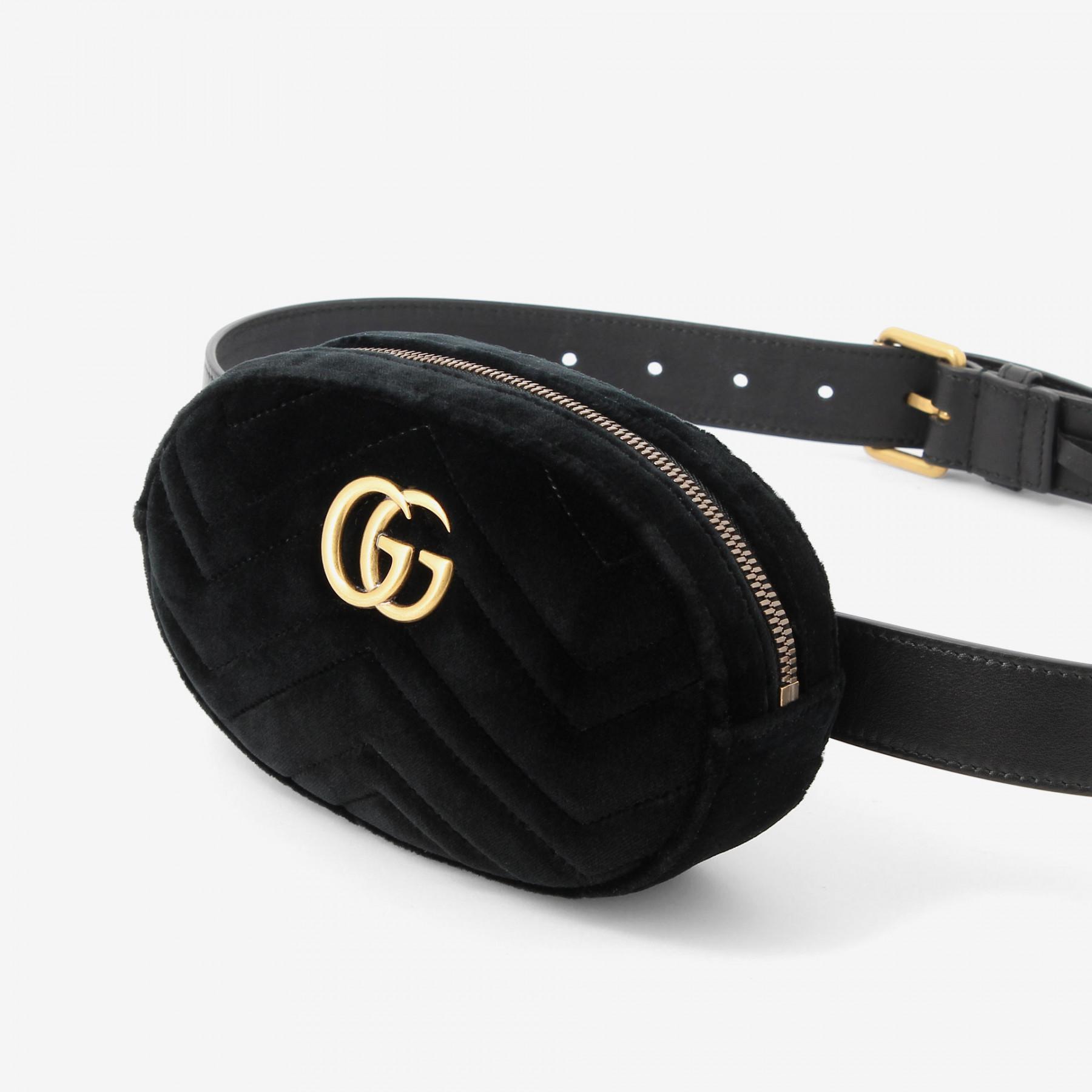 edd6c6e3d8c8 Gucci Belt Bag Velvet Review. Lyst - Gucci Velvet Marmont ...