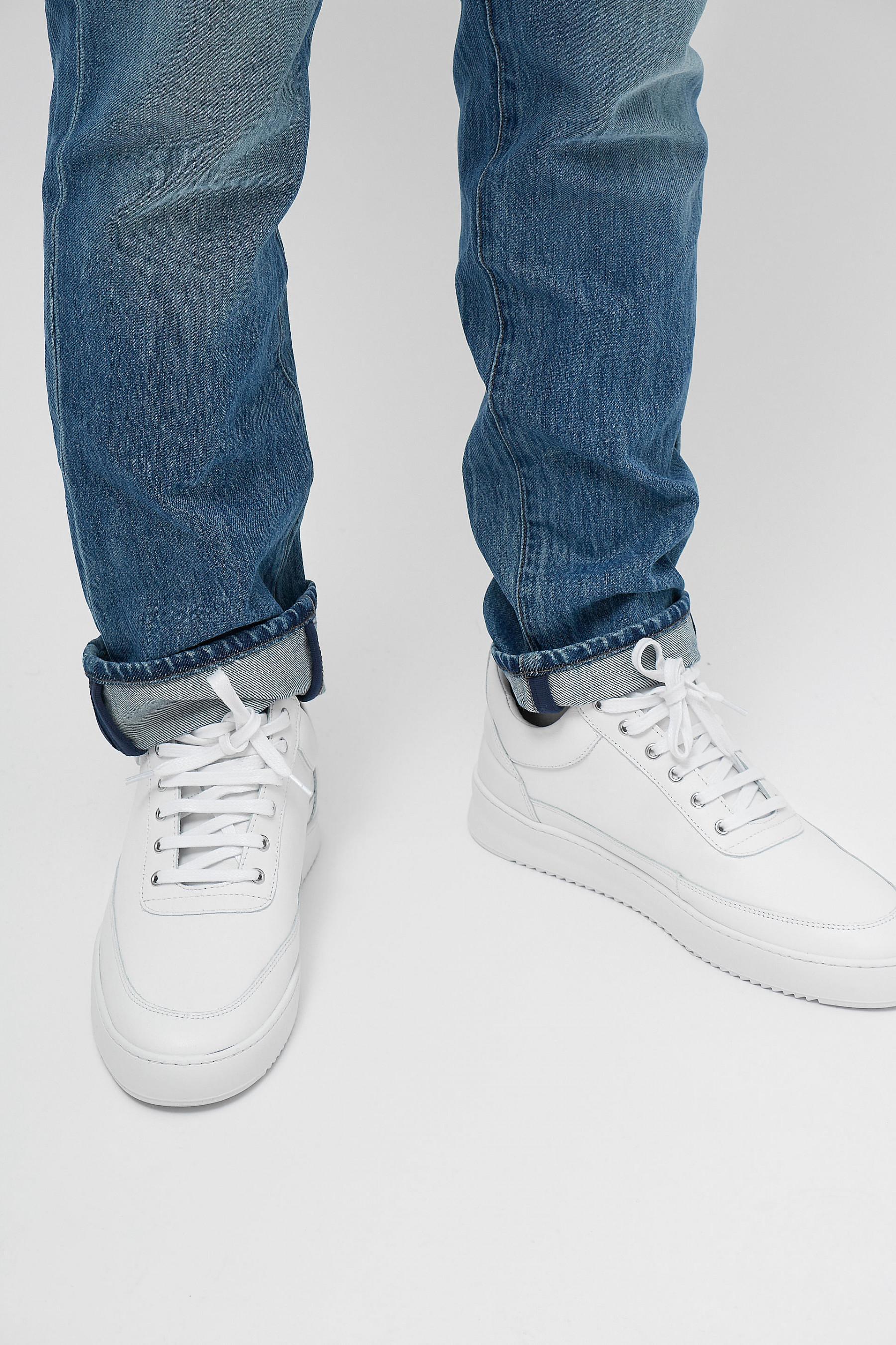 Lane Mette Nubuck White Sneakers Unisex