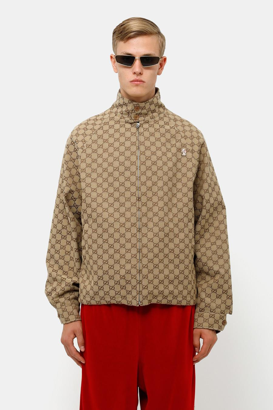 3d422a9054 Gucci GG Canvas Bomber Jacket For Men for Men - Lyst