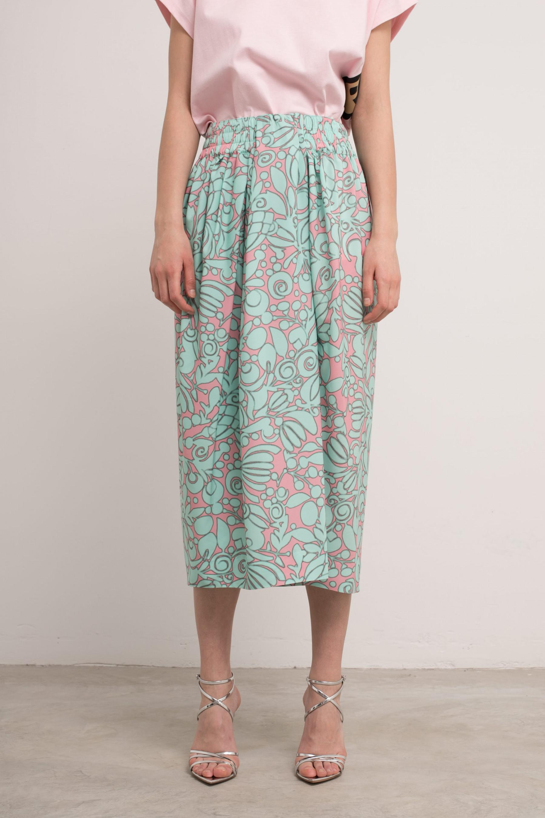 63cb5242e8 Marc Jacobs Floral Draped Skirt in Pink - Lyst