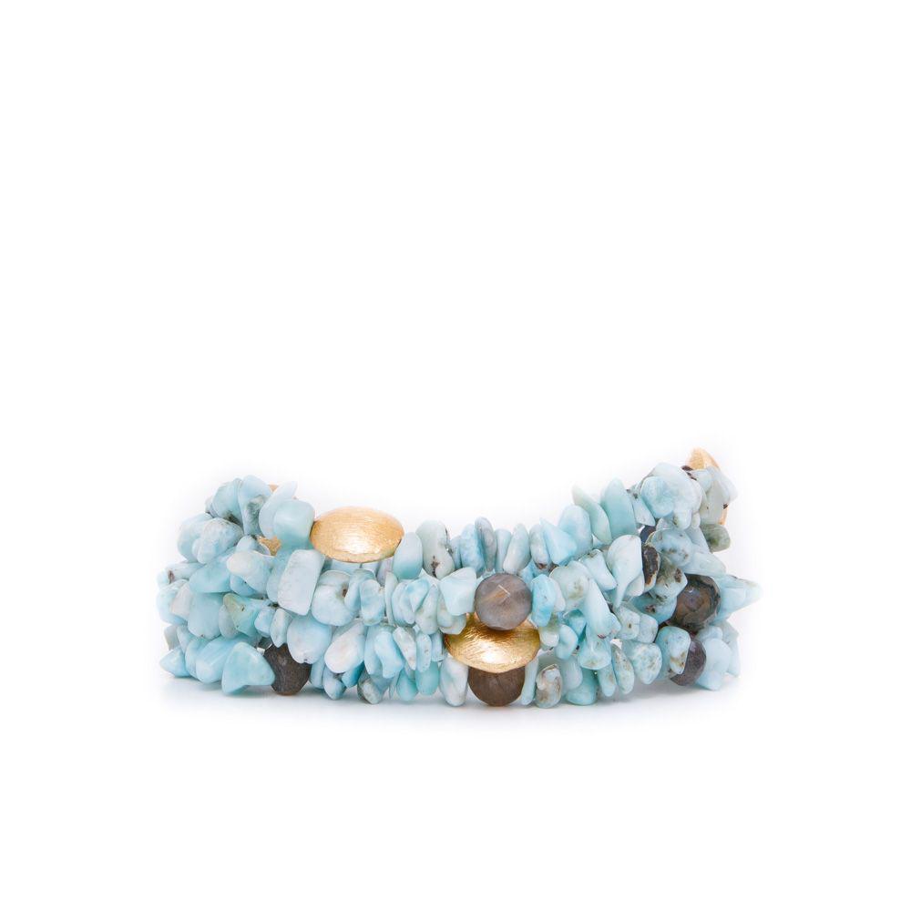 8ce0561f6477 Lyst - Elaine Turner Peggy Bracelet In Powder Blue in Blue