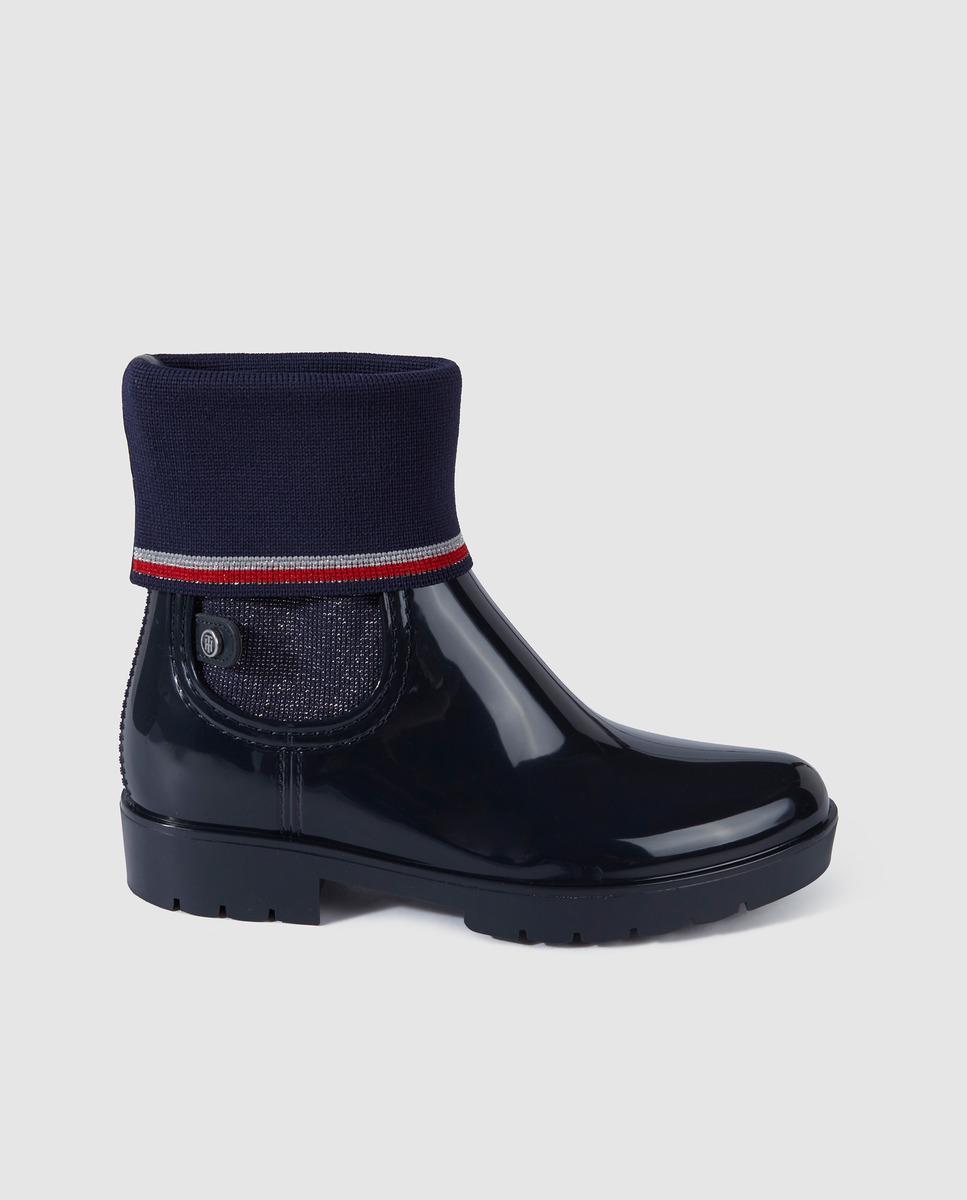Tommy Hilfiger Navy Blue Rain Boots With Stretch Leg - Lyst-1654