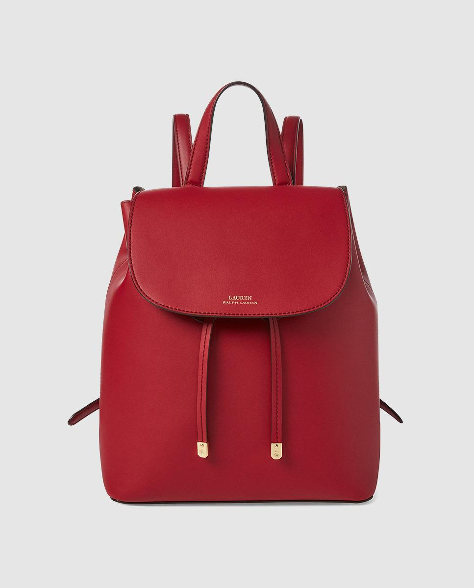5c3ac34bd1 Lauren by Ralph Lauren Red Leather Backpack With Grey Lining in Red ...