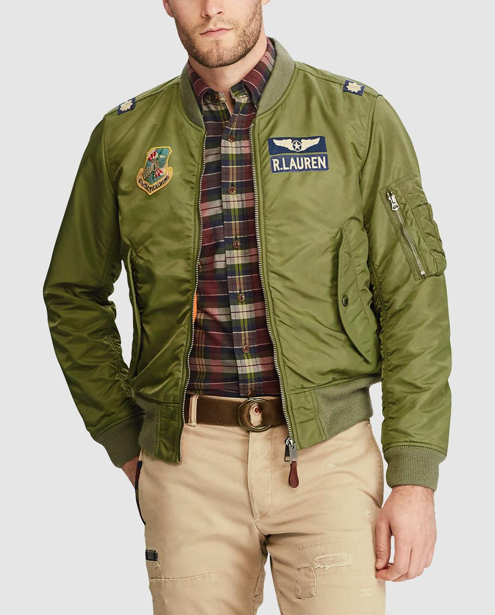 lyst polo ralph lauren the iconic ma 1 bomber jacket in green for men. Black Bedroom Furniture Sets. Home Design Ideas