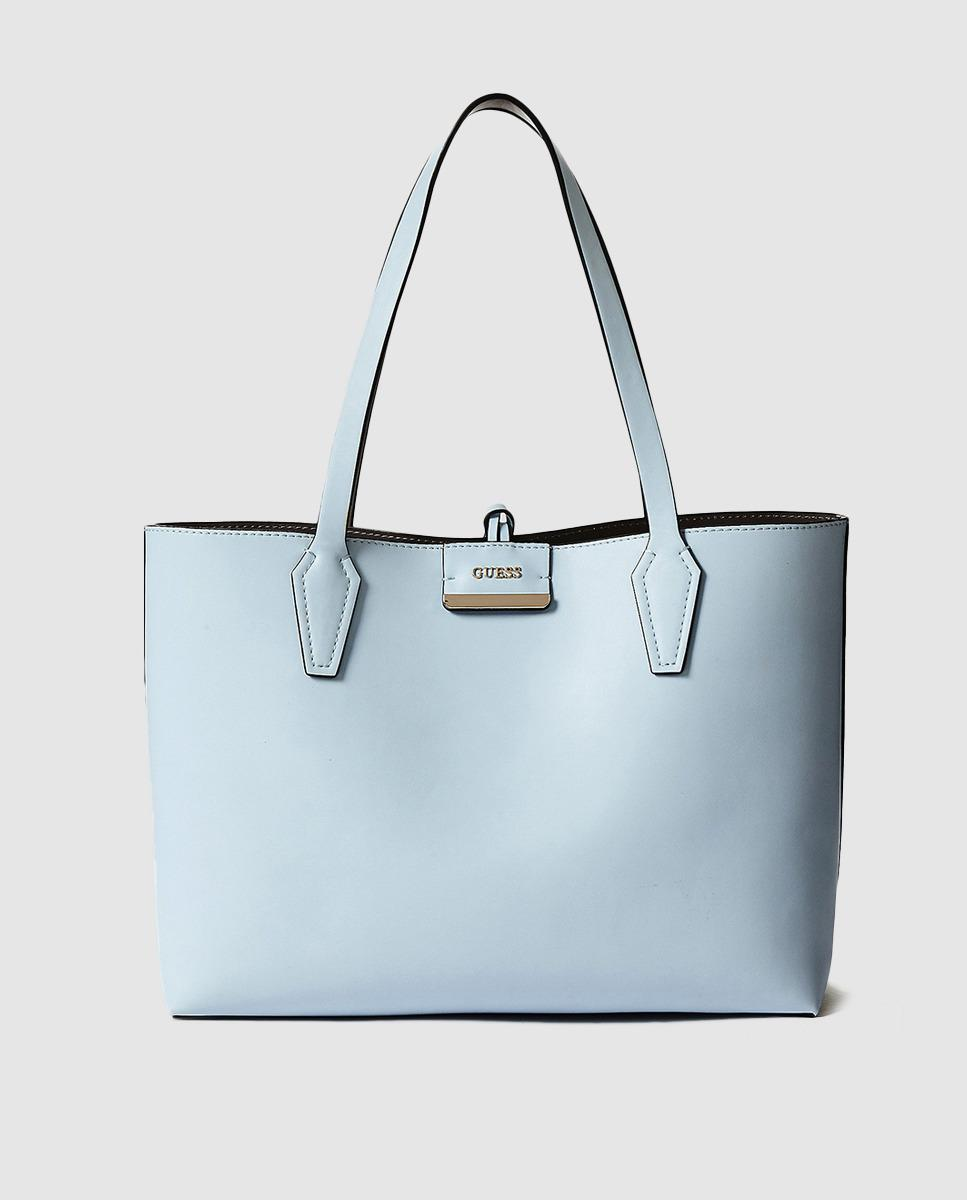 6d3b46589ec Guess Reversible Pale Blue And Grey Tote Bag in Blue - Lyst