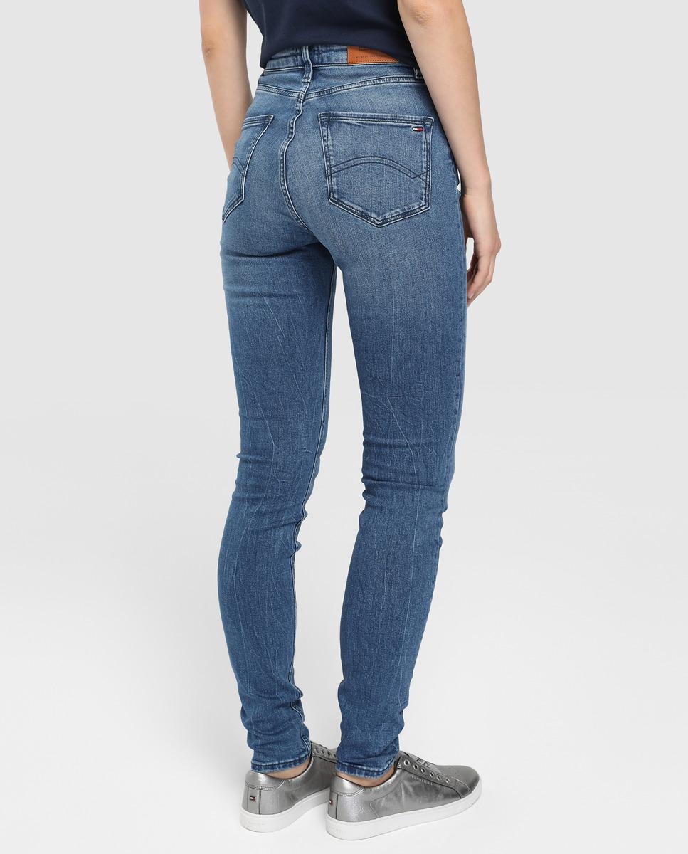 57ce376de Tommy Hilfiger Santana High-waisted Skinny Jeans in Blue - Lyst