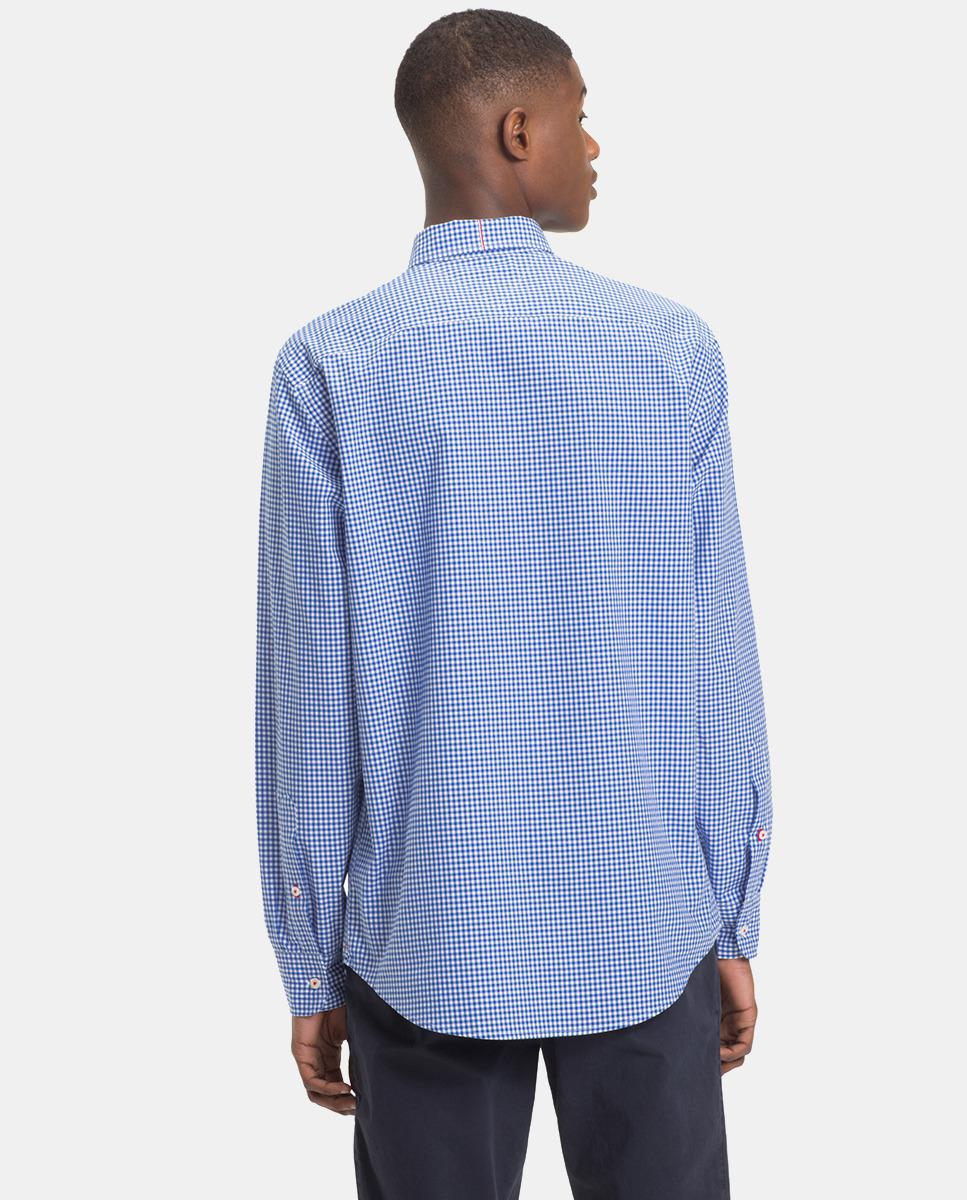 da4504e4 Lyst - Tommy Hilfiger Regular-fit Blue Checked Shirt in Blue for Men