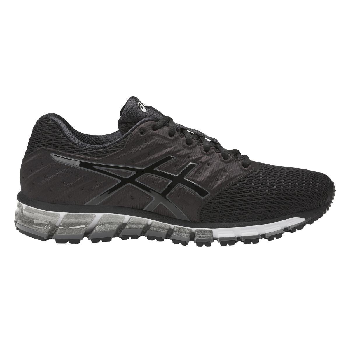 lyst asics gel quantum 180 2 running shoes in black for men. Black Bedroom Furniture Sets. Home Design Ideas