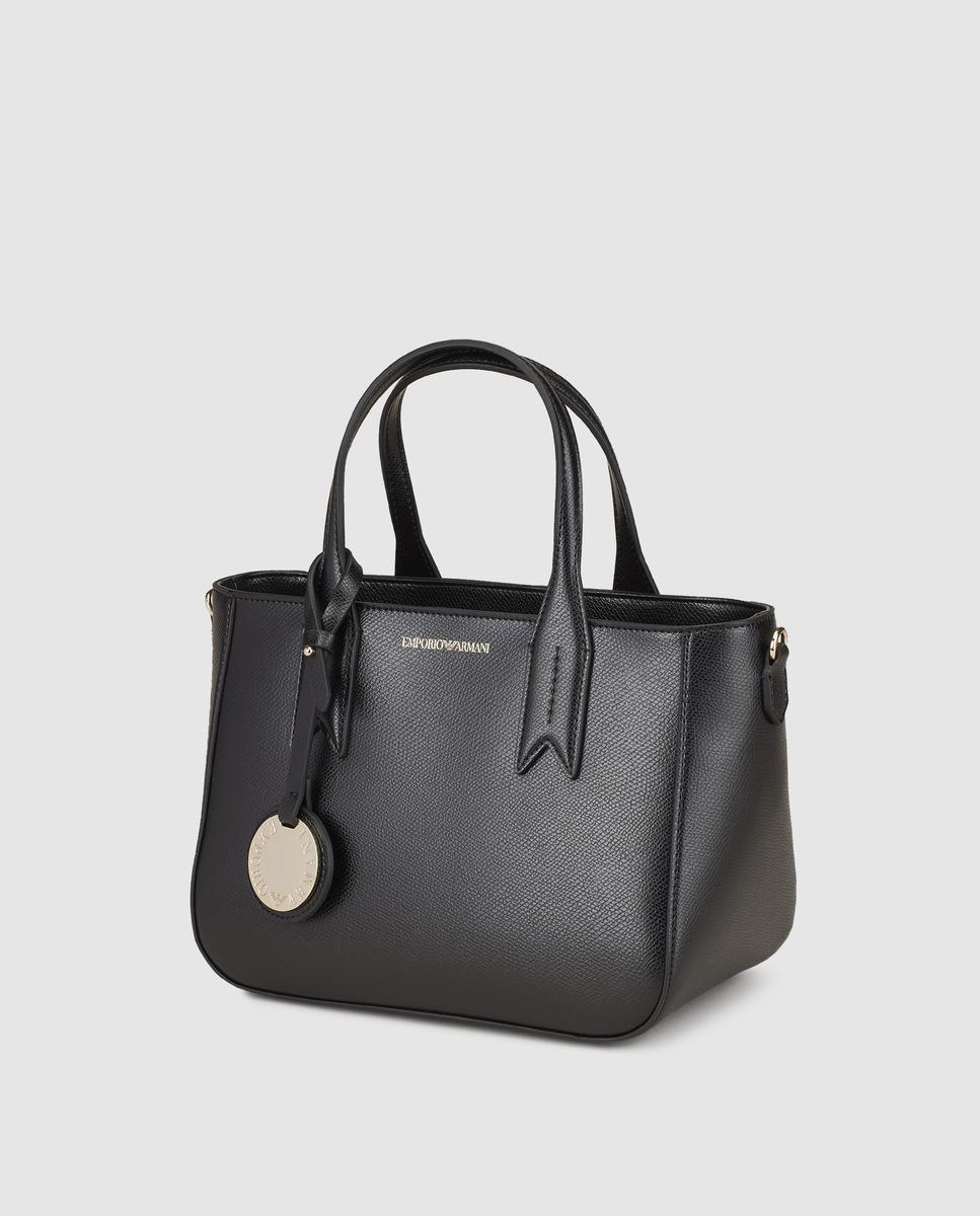 63acfd8b3d6c Emporio Armani Black Shopper Bag With Zip in Black - Lyst