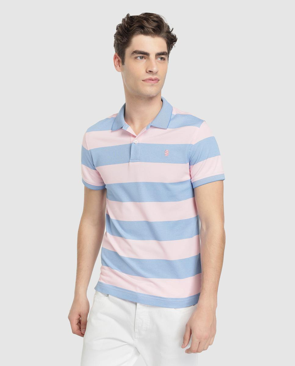 3b9685cc Lyst - Izod Regular-fit Pink Short Sleeve Polo Shirt in Pink for Men