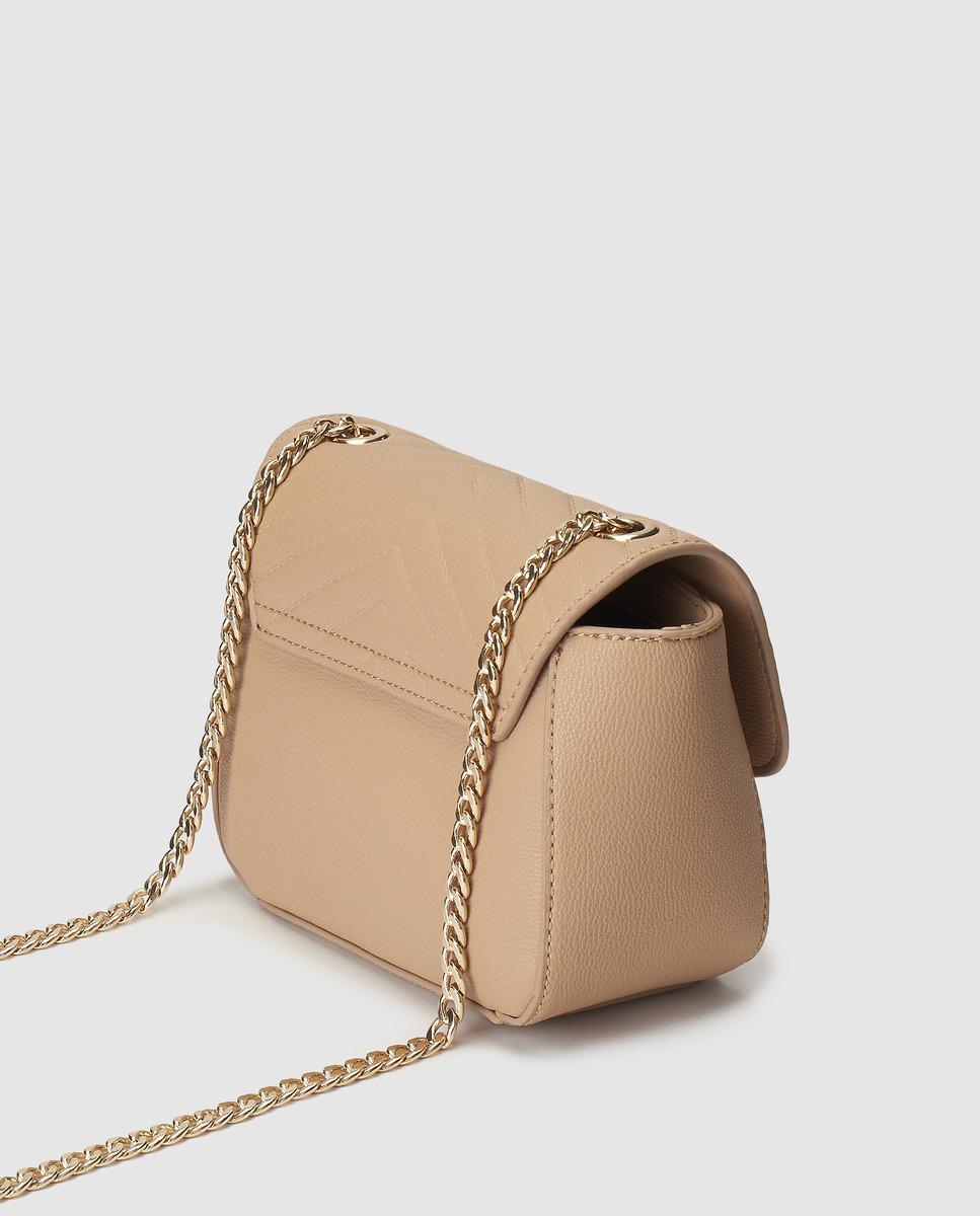 f6901912a06 El Corte Inglés Nude Mini Crossbody Bag With V-shaped Quilting in Natural -  Lyst