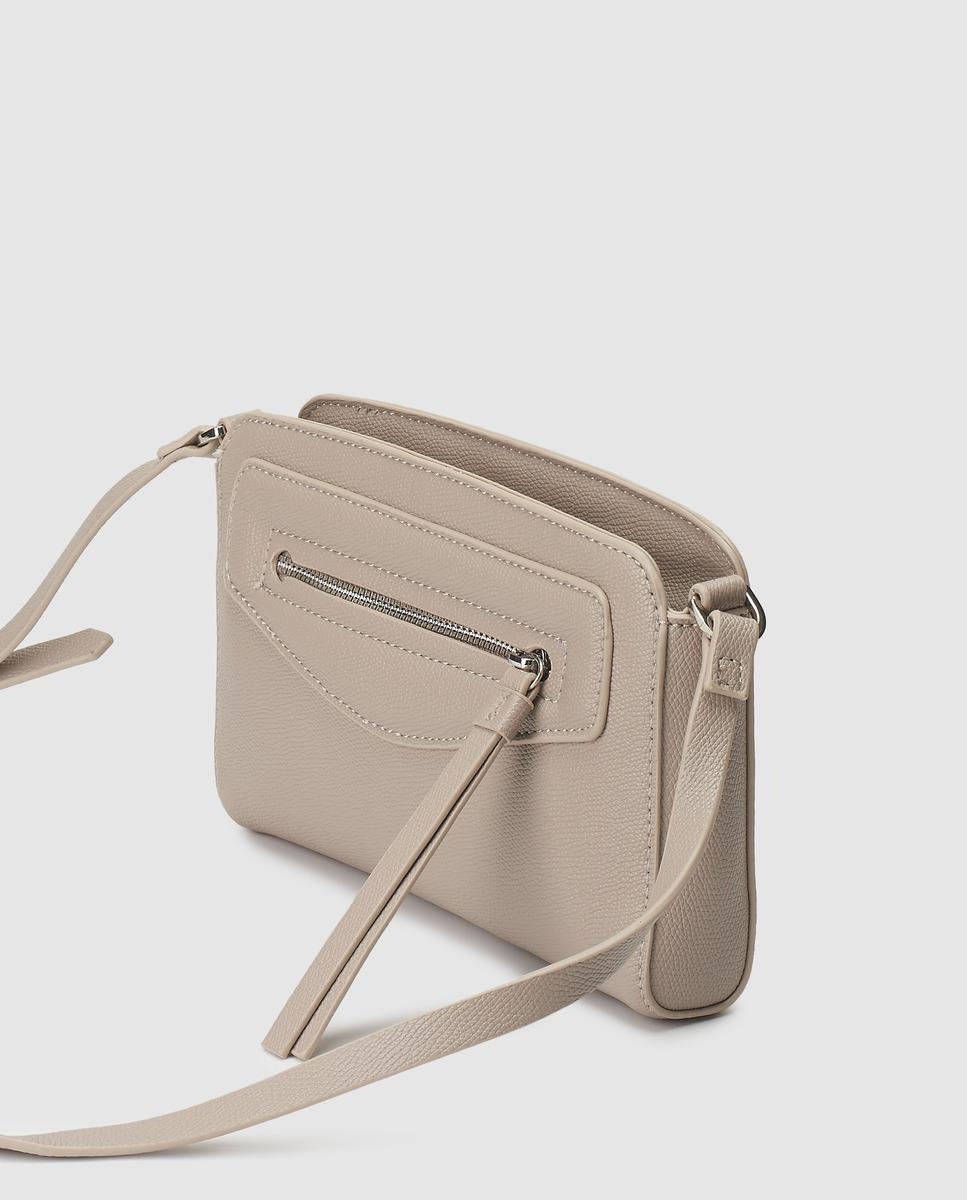 c5a19489b0 Esprit Small Taupe Crossbody Bag With An Outer Pocket - Lyst