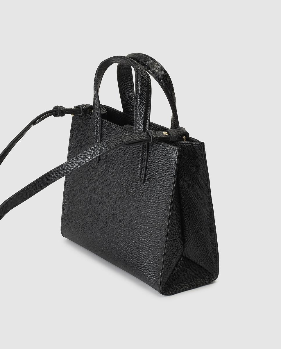 Kurt Geiger London Black Saffiano Leather Tote Bag With Magnet in Black -  Lyst f0930119b2956