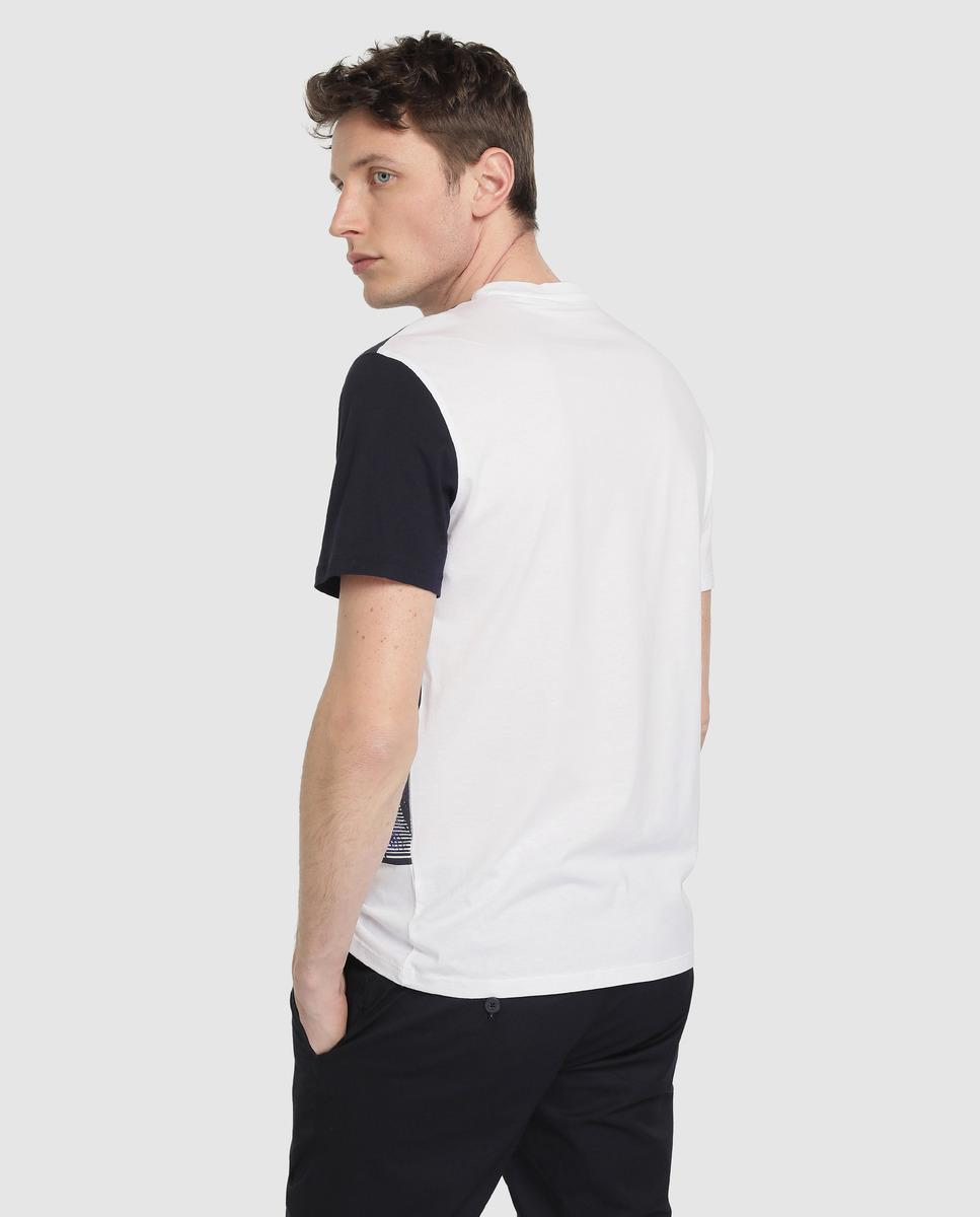 9ab18709795b2 Armani Exchange Camiseta De Hombre Blanca De Manga Corta in White for Men -  Lyst