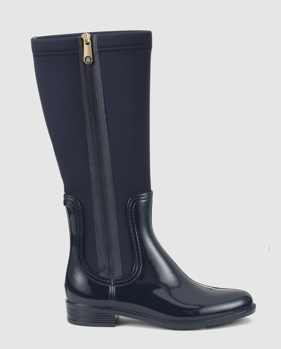 Tommy Hilfiger Blue Rain Boots With Side Zip Detail - Lyst-9957