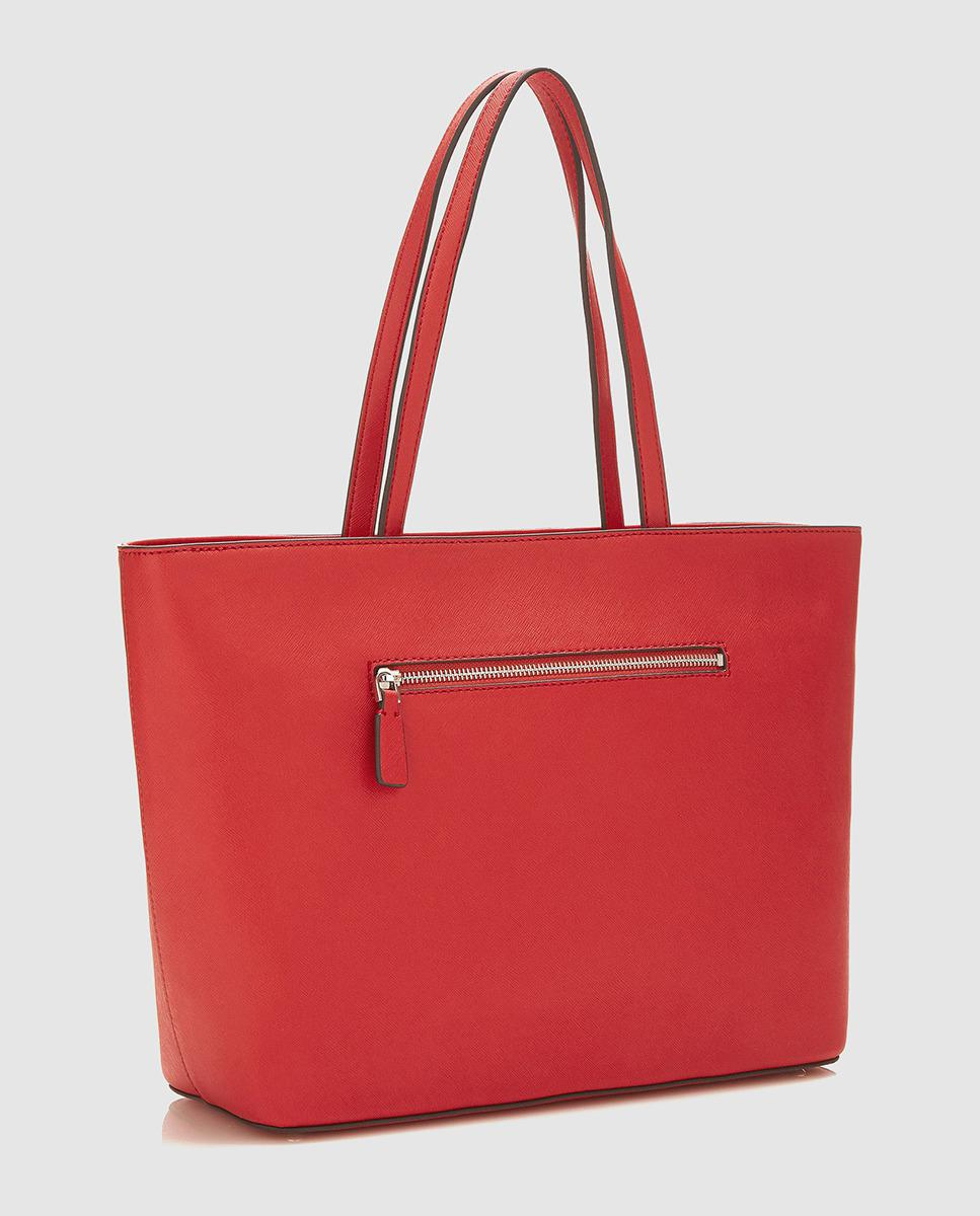 Lyst - Guess Red Tote Bag With Glitter Patches