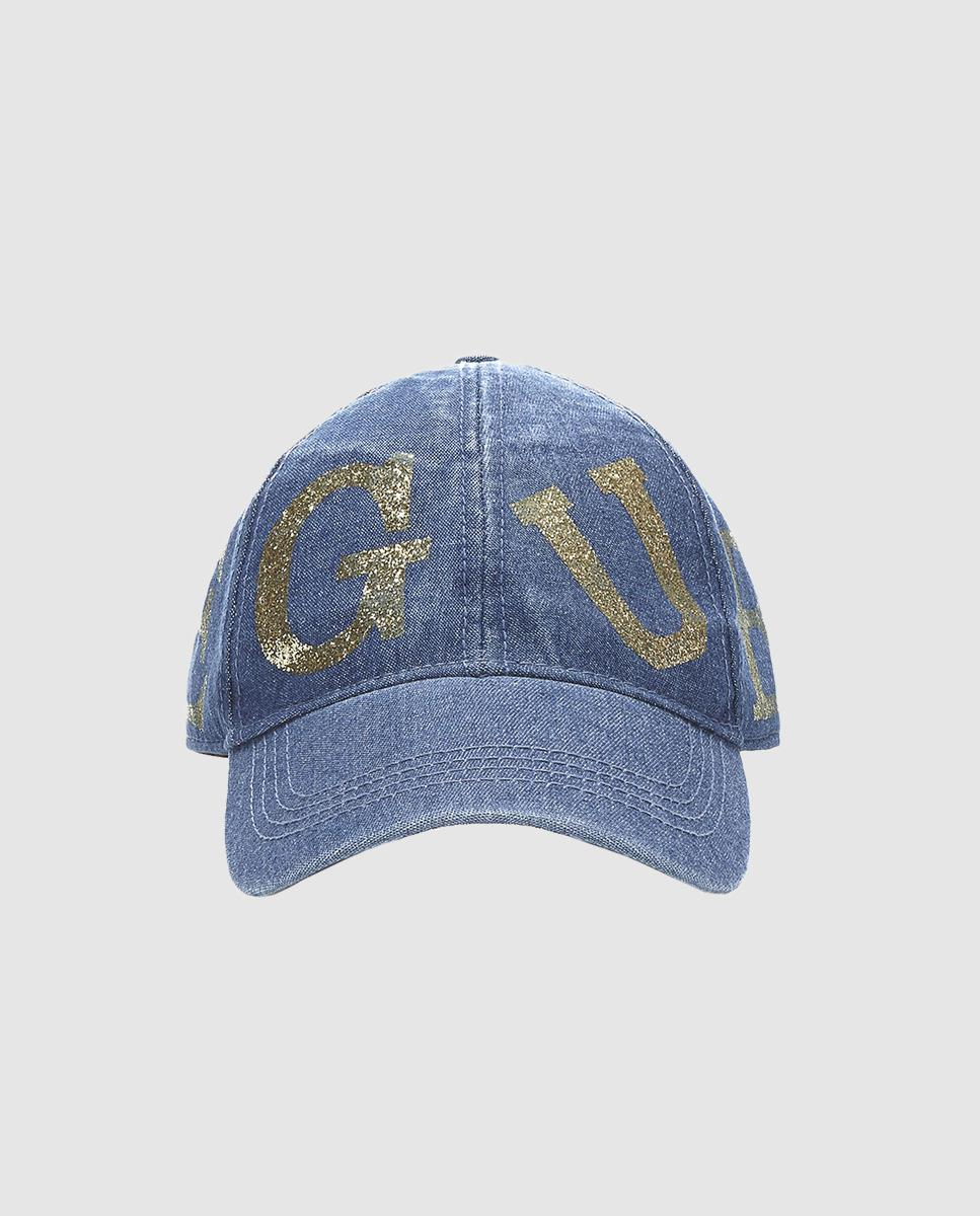 f8f51220ef01f Lyst - Guess Wo Blue Denim Cap With Logo in Blue for Men