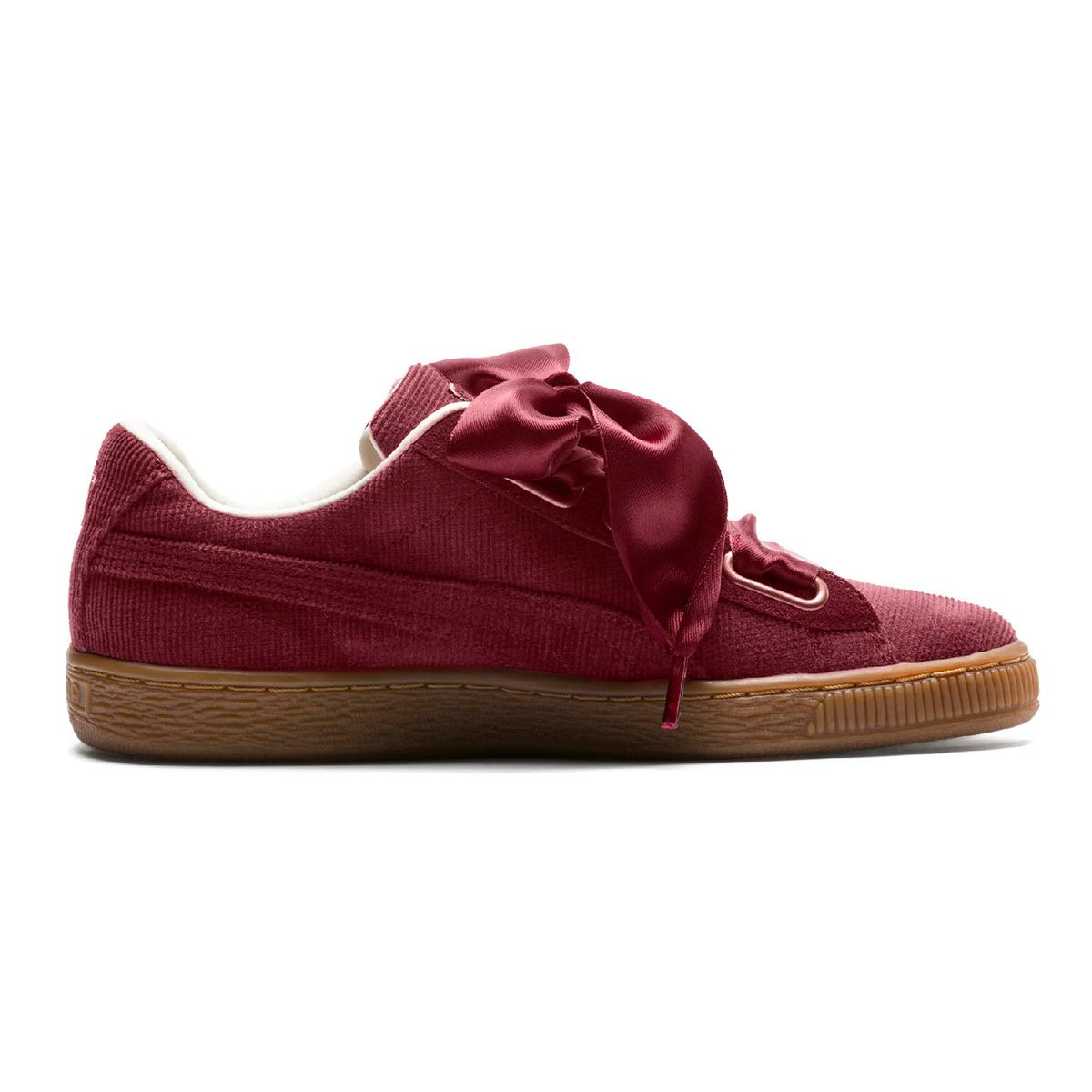 bfdf794f591f6c Lyst - PUMA Basket Heart Corduroy Casual Trainers in Red - Save 5%