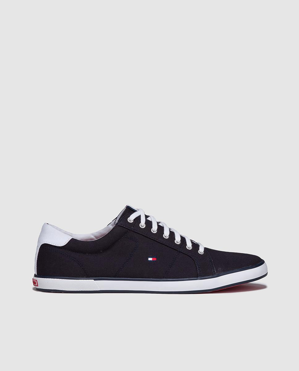 211f6e6d5 Lyst - Tommy Hilfiger Canvas Trainers With Flag Logo in Blue for Men