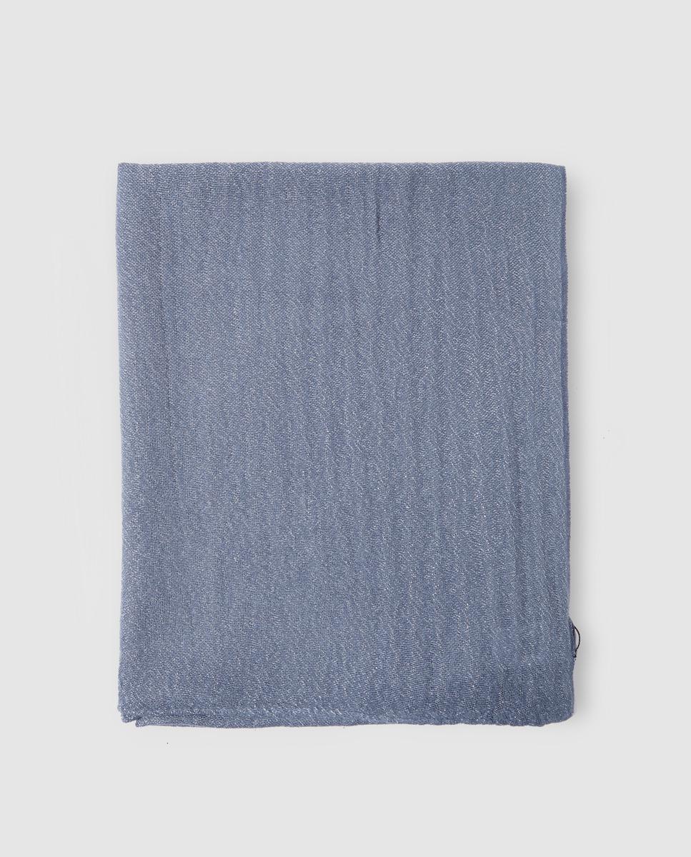 ee44eed517d9 El Corte Inglés Blue Foulard With Lurex in Blue - Lyst