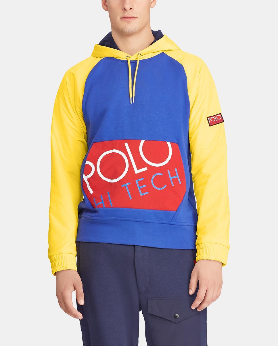 6e1a817f321b Polo Ralph Lauren Multicoloured Hooded Sweatshirt in Blue for Men - Lyst