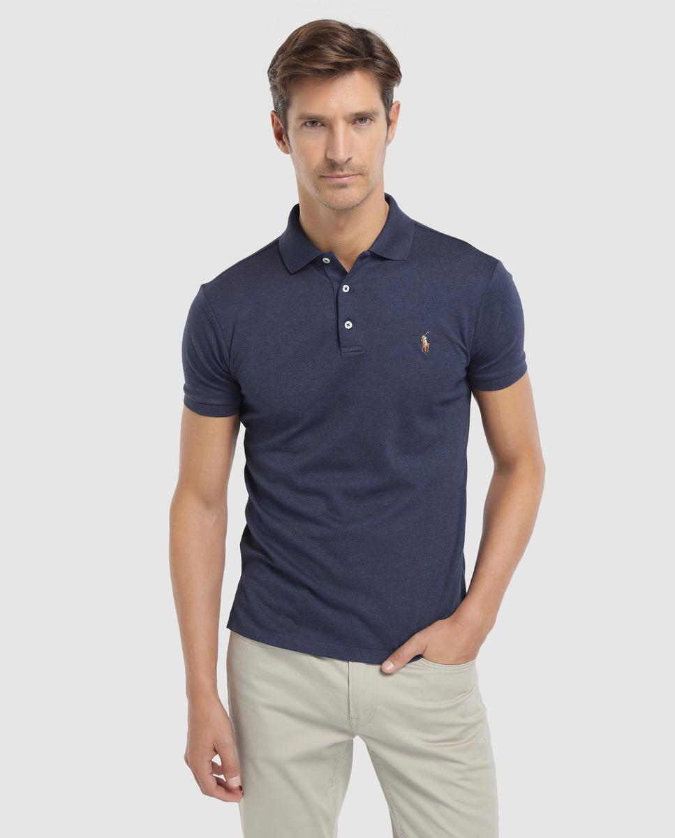 Lyst Polo Ralph Lauren Mens Slim Fit Blue Short Sleeve Piqu Polo