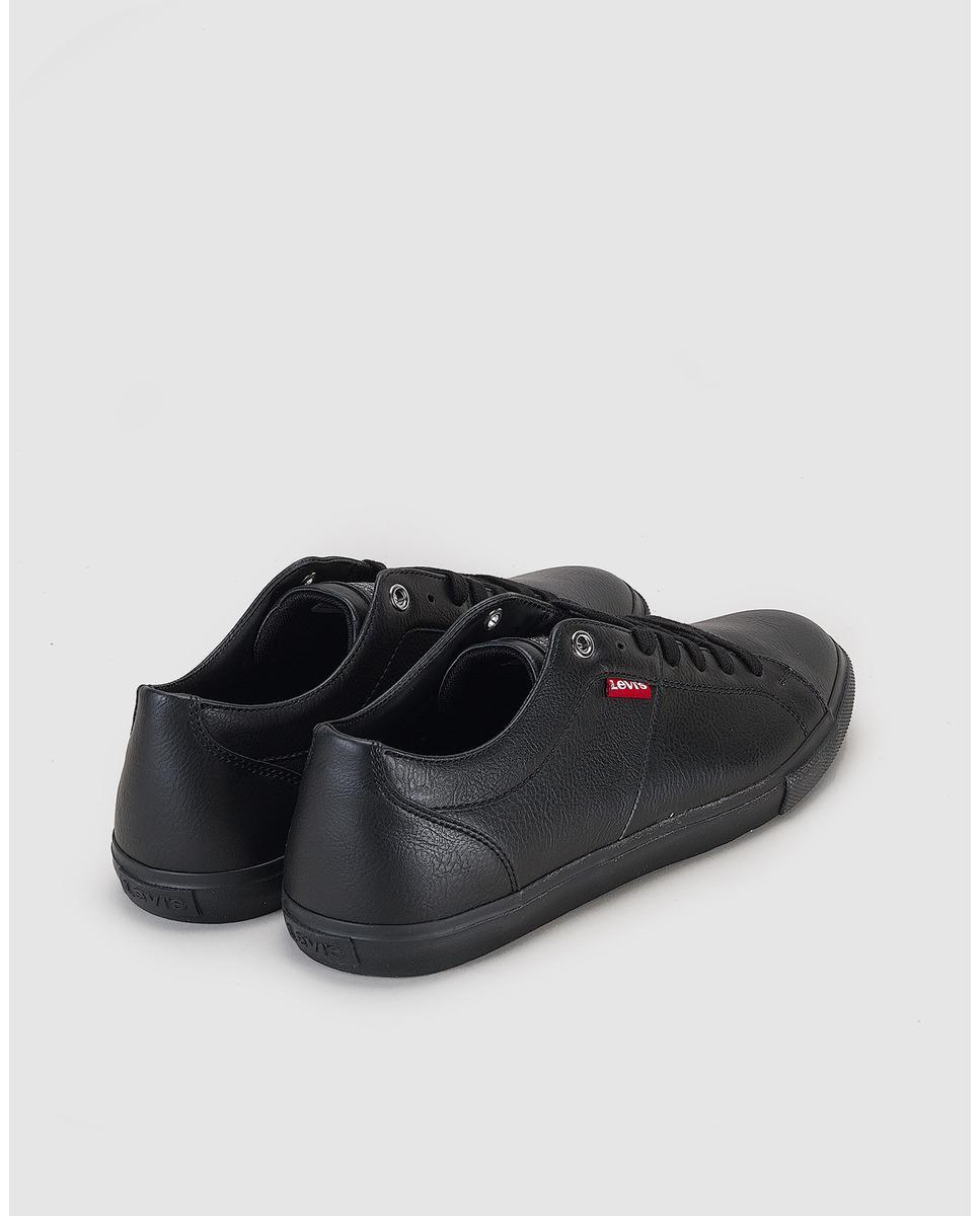 Zapatillas Deportivas De Hombre De Color Negro Con Cierre De Cordones Levi's de hombre de color Negro