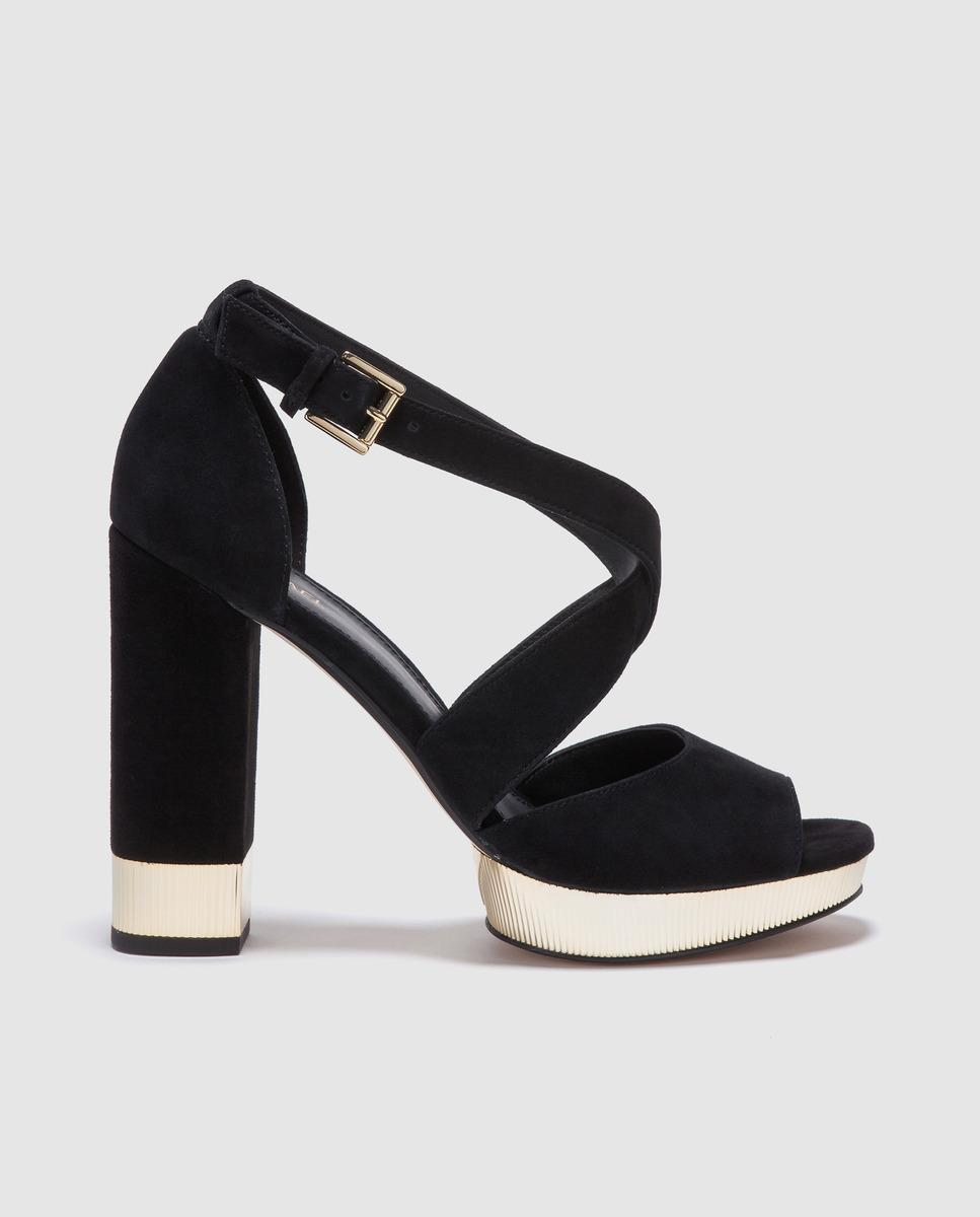 0b4d8d804c9 MICHAEL Michael Kors. Women s Michael Kors Black Leather High-heel Sandals.  Valerie Platform Model.