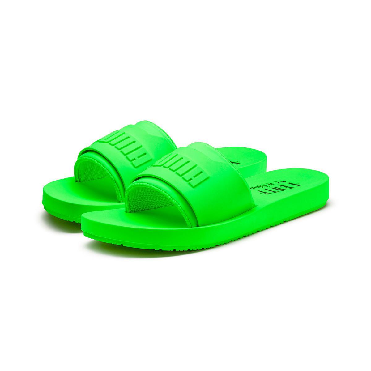 ae7b1b52a38335 PUMA - Green Fenty Surf Slide Swim Flip-flops - Lyst. View fullscreen