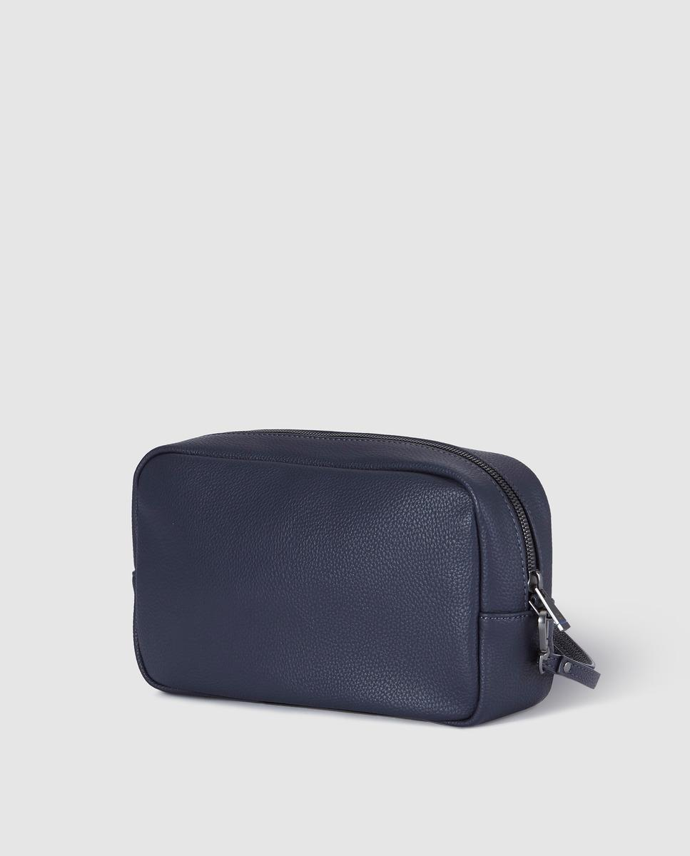 dbd58d0433f6 Lyst - Emporio Armani Navy Blue Toiletry Bag With Logo in Blue for Men