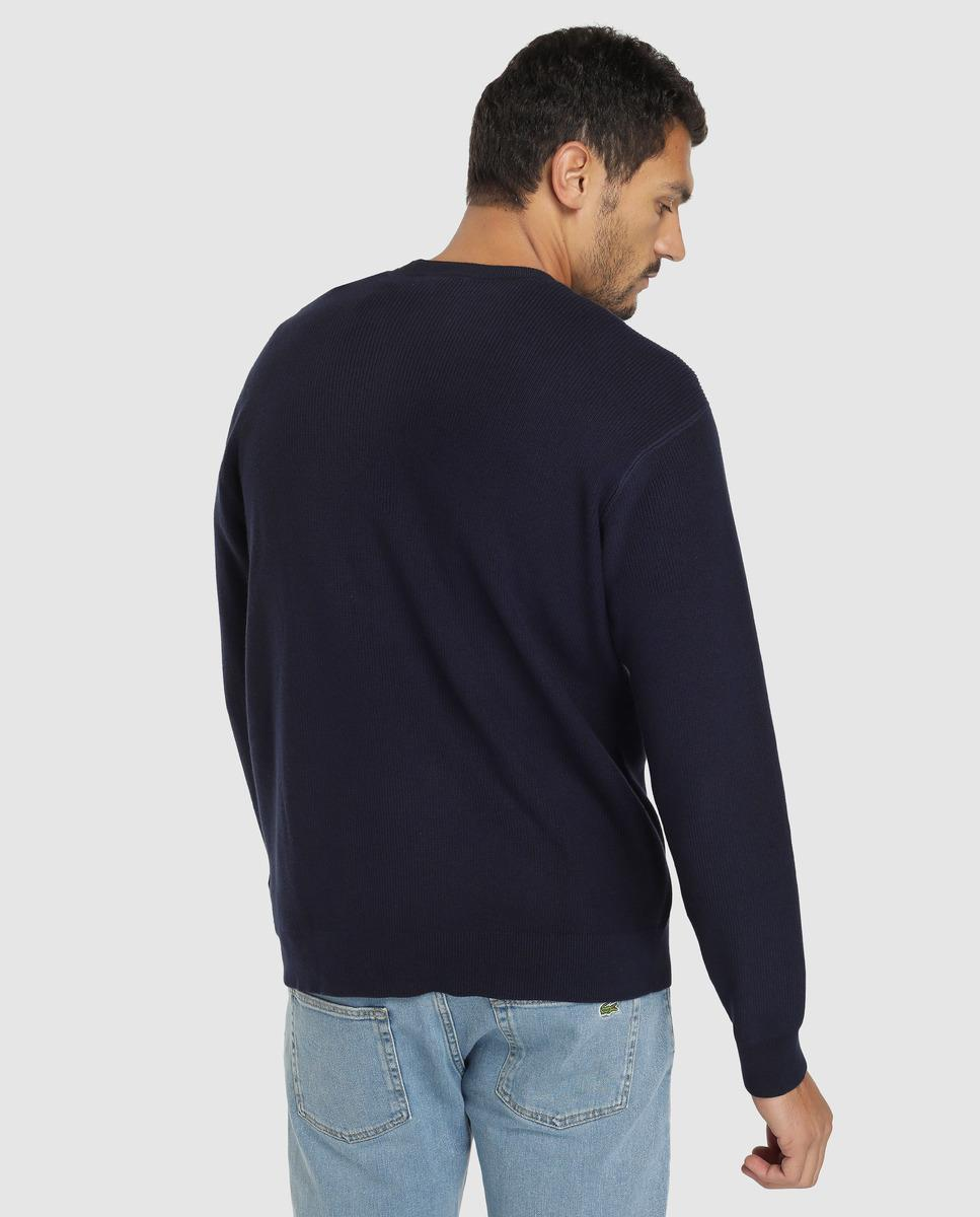 36825b25 Lacoste Blue Round-neck Sweater in Blue for Men - Lyst