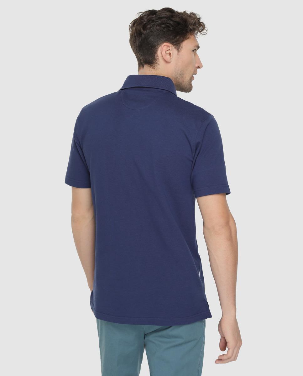 1094f0800 Mirto Blue Short Sleeved Piqué Polo Shirt in Blue for Men - Lyst
