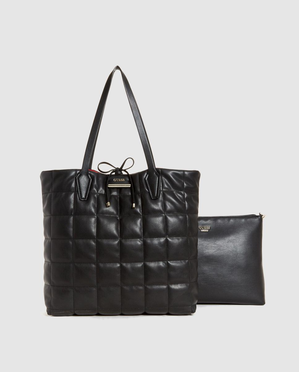 db565cf3e0 Lyst - Guess Reversible Black And Red Quilted Tote Bag in Black