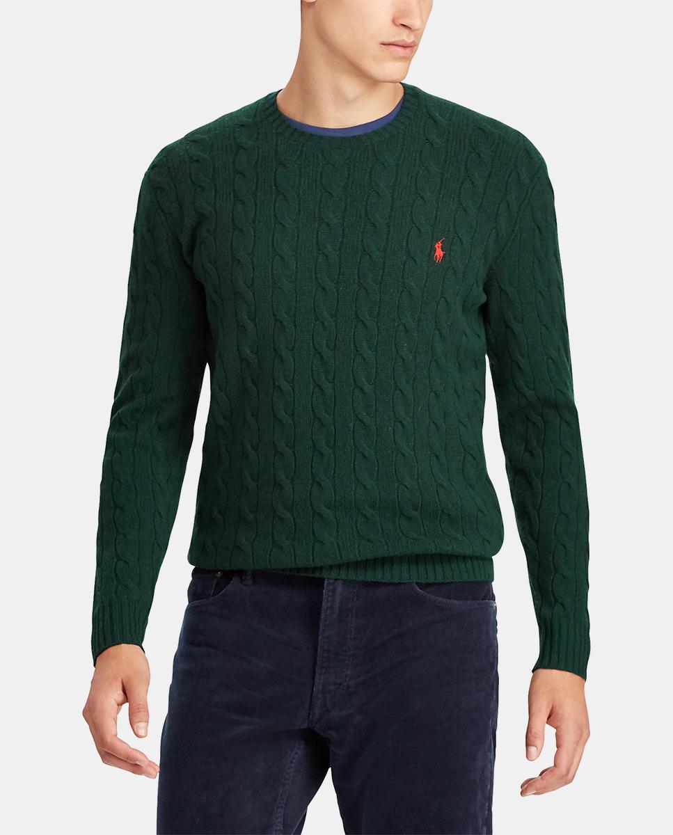 dd691f97ac5c2 Lyst - Polo Ralph Lauren Jumper in Green for Men