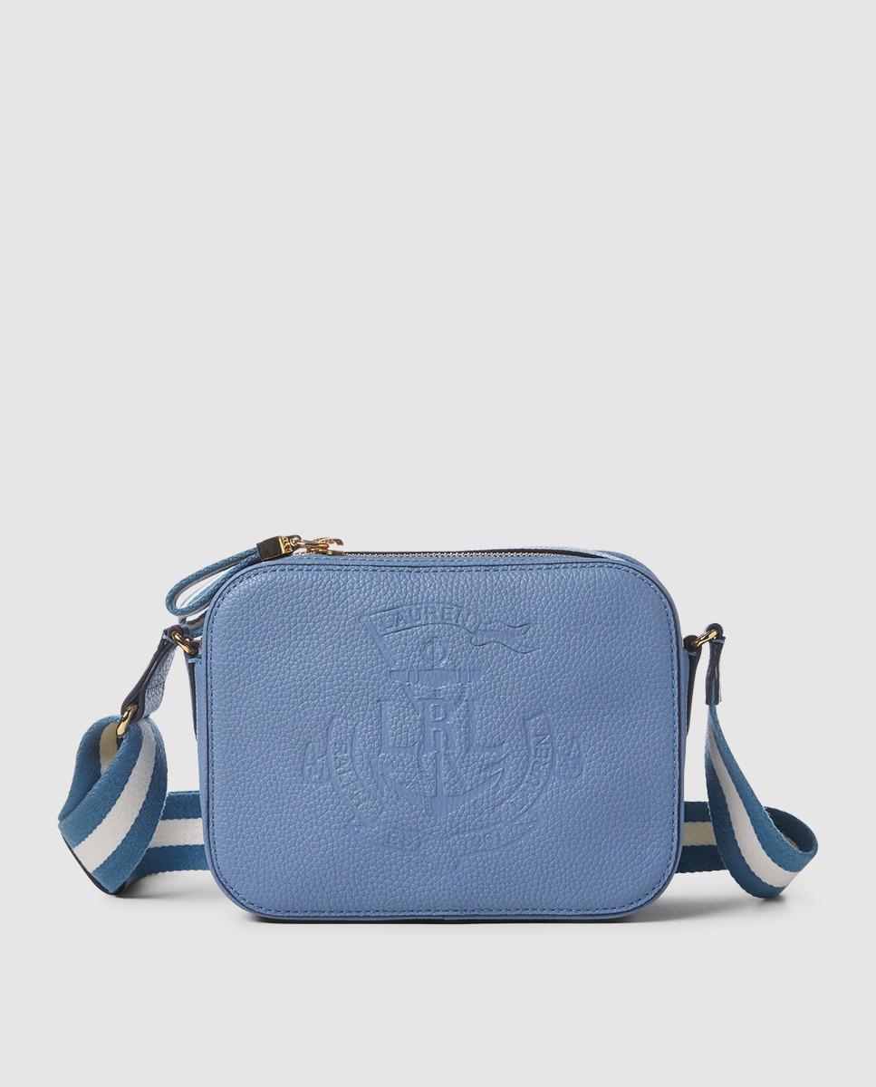 5558f39fc54e Lauren by Ralph Lauren. Women s Small Light Blue Calfskin Leather Crossbody  Bag