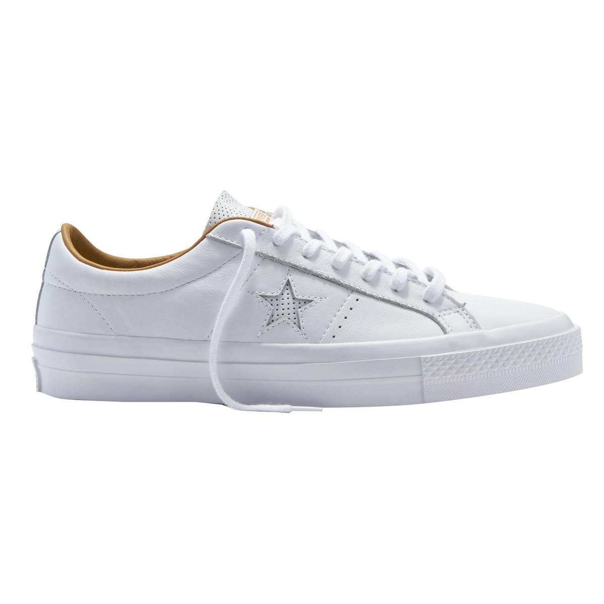 1fdc9e579529 Lyst - Converse One Star Leather Ox Unisex Casual Trainers in White