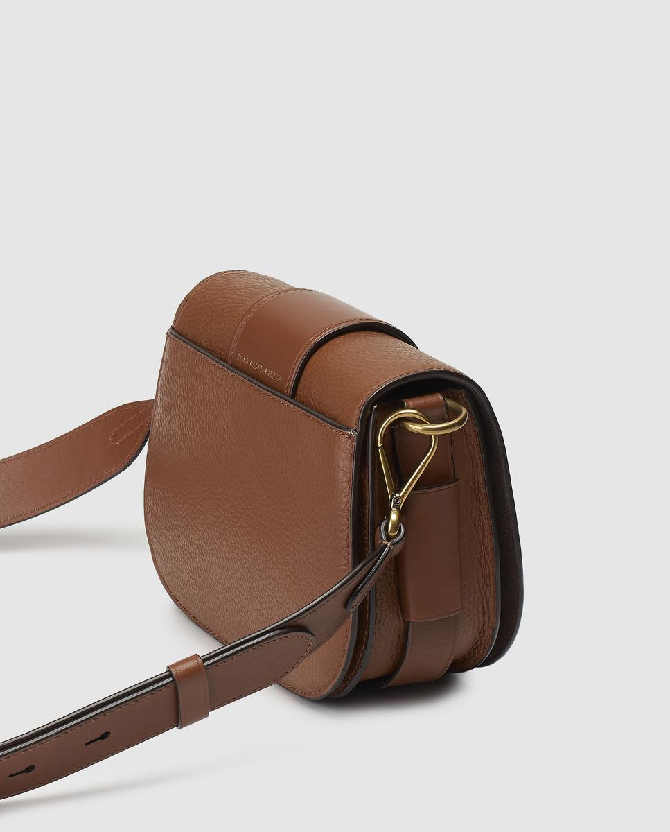518288bddf Polo Ralph Lauren Small Brown Leather Crossbody Bag With Buckle in Brown -  Lyst