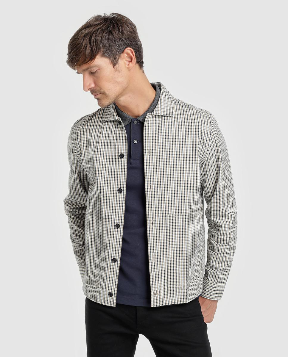 Lacoste Live Slim-fit Multicoloured Checked Overshirt in Gray for ... c20104312a75