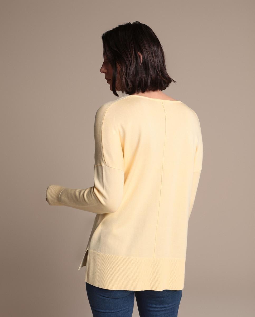 Jersey De Mujer Con Manga Larga Y Escote En Pico Woman El Corte Inglés de color Amarillo