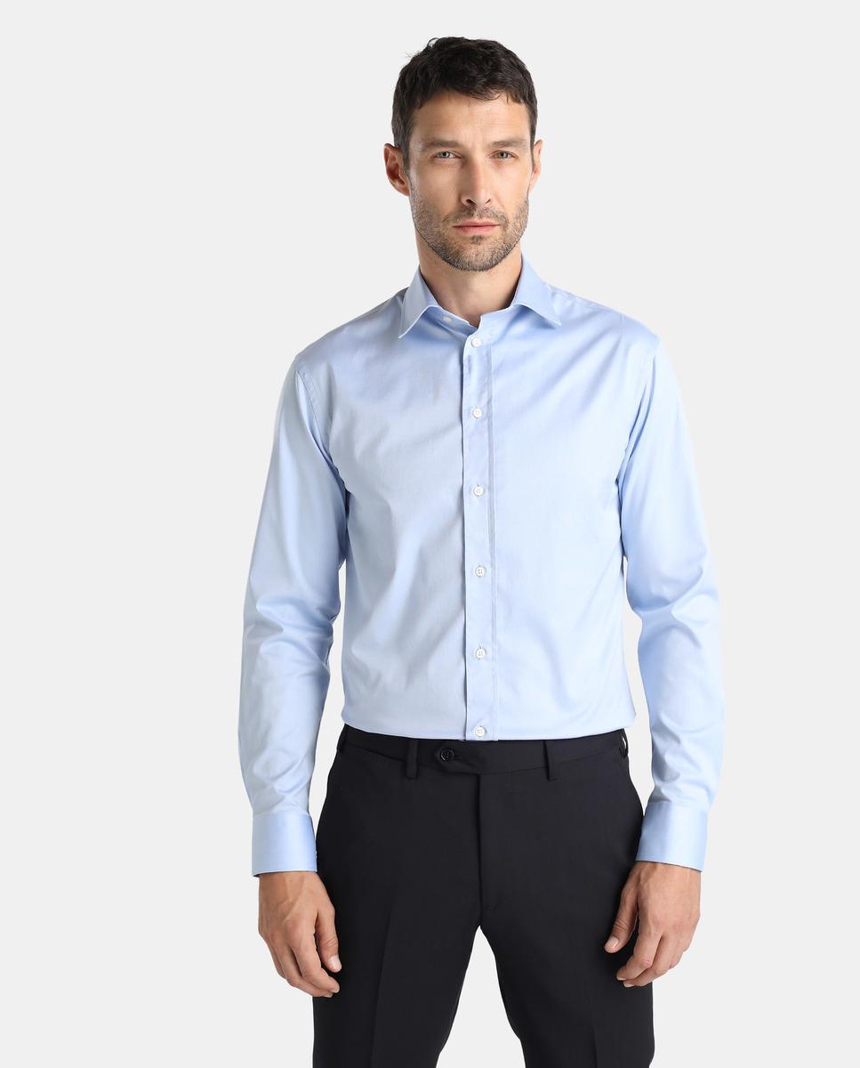 Lyst armani blue regular fit dress shirt in blue for men for Regular fit dress shirt
