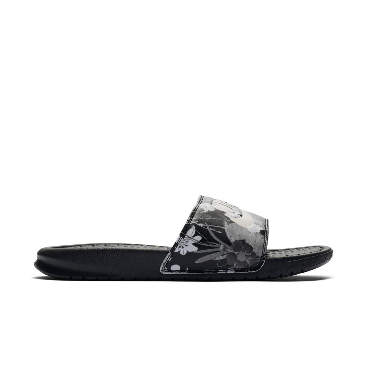 0bad8731b69e Benassi Just It Sandals Black In Nike Lyst Pool Do HwZn16