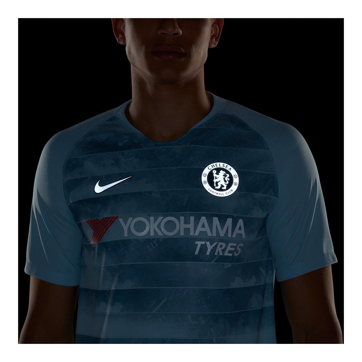 the latest db926 16329 Men's Blue Chelsea Fc 2018-2019 Breathe Stadium Third Kit Shirt